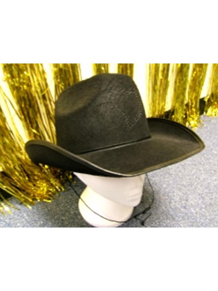 Cowboy Hat Fibre Optic Heart Design**. THIS HAT DOES NOT FLASH (1) **