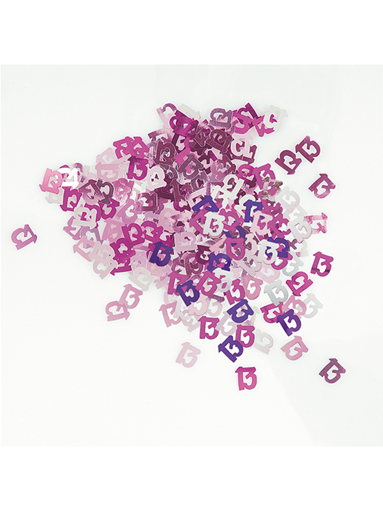 Birthday Glitz Pink - 13th Birthday Confetti
