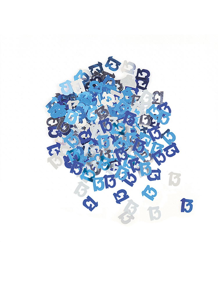 Birthday Glitz Blue - 13th Birthday Confetti