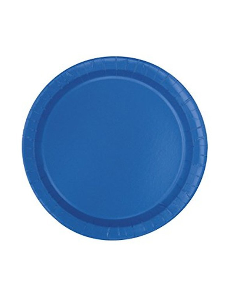 "Royal Blue 9"" Paper Plate"