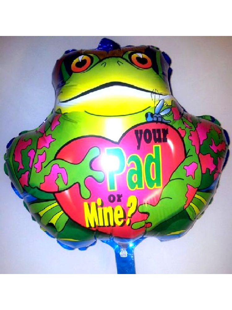 """Foil Balloon 'YOUR PAD OR MINE' 18"""" (Requires Helium)"""