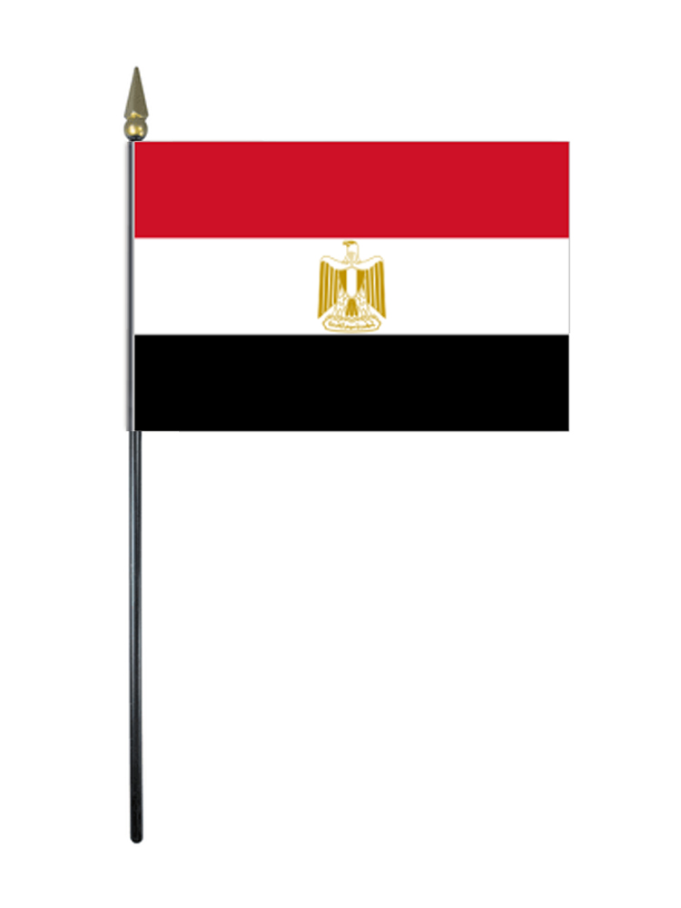 Egypt Table Flag with Stick and Base