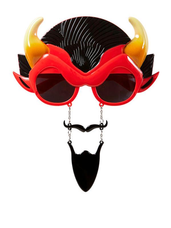Devilish Glasses W/Tash And Goatee