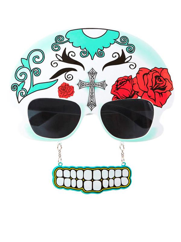 Glasses Mujer Dia De Los Meurtos W/Teeth