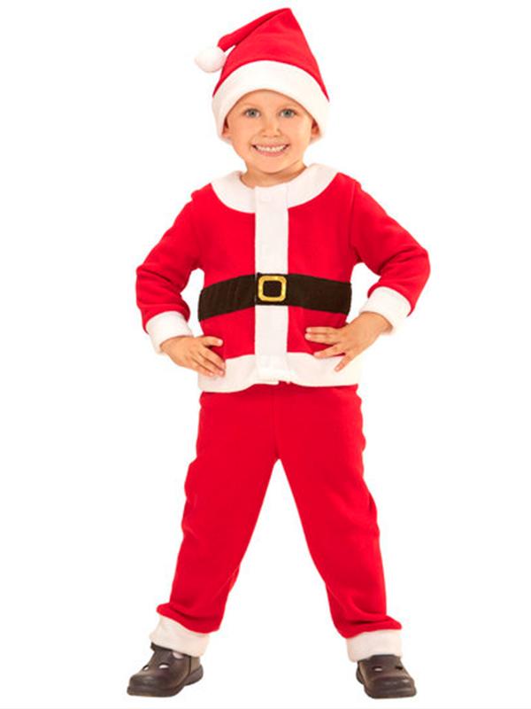 Santa Boy (Jacket Pants Hat) Childrens