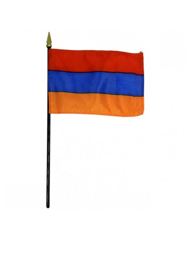 "Armenia medium hand flag 9"" x 6"""