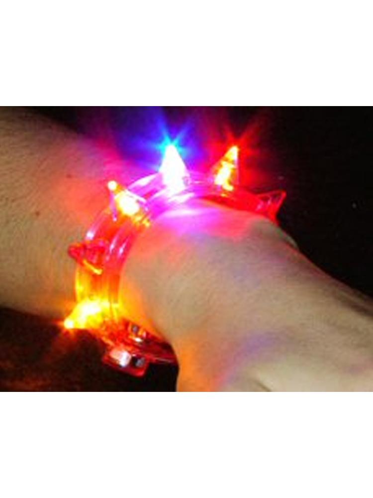 Flashing Blinking Spiked (Studded) Bracelet.