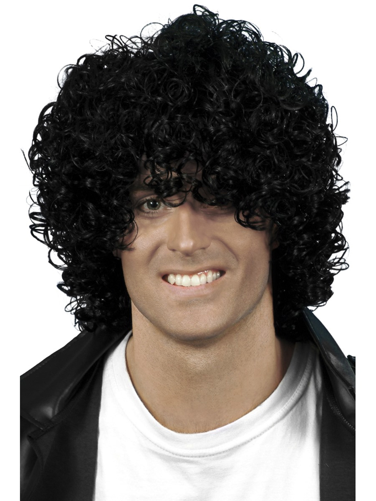 Afro Wet Look Wig,Black