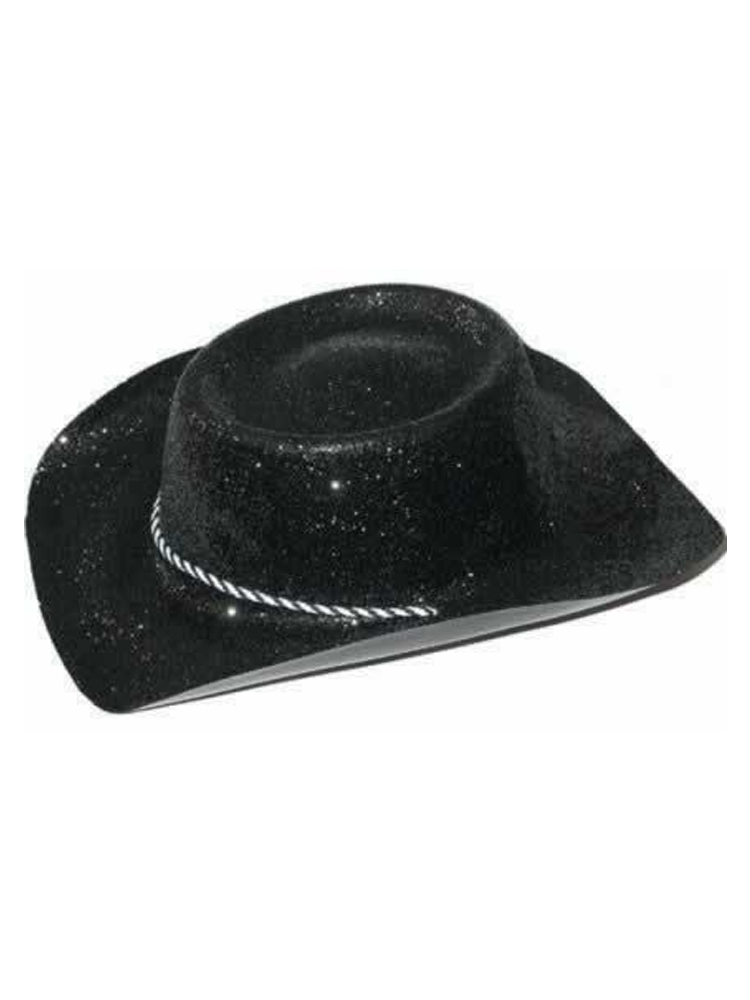 Glitter Cowboy Hat Black