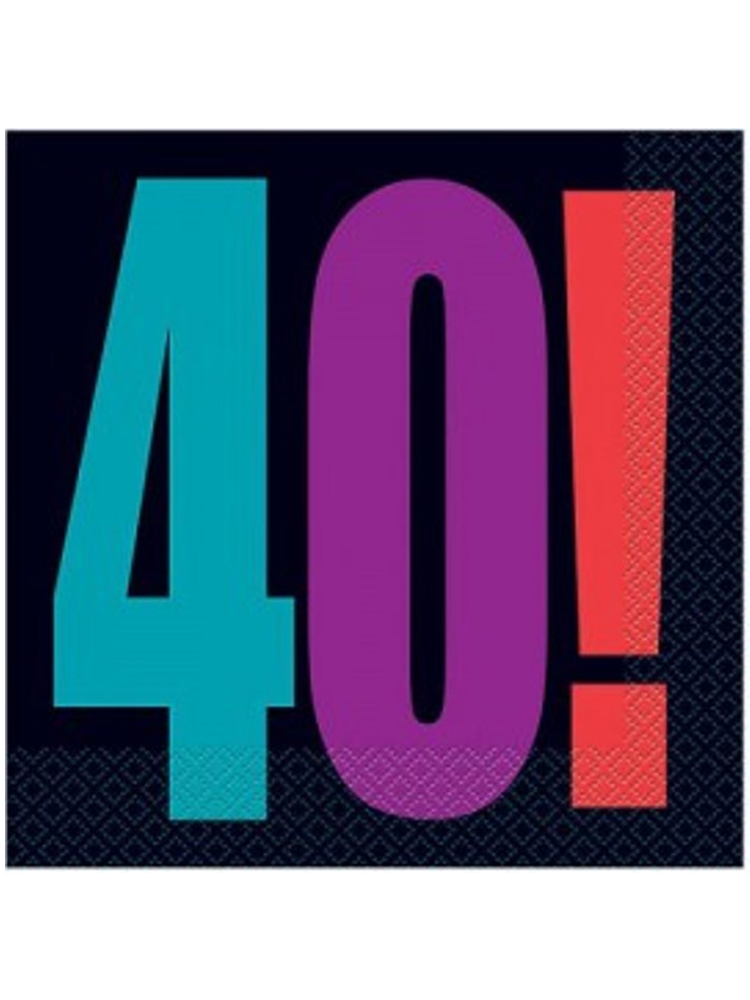 40th Birthday Cheer Napkins