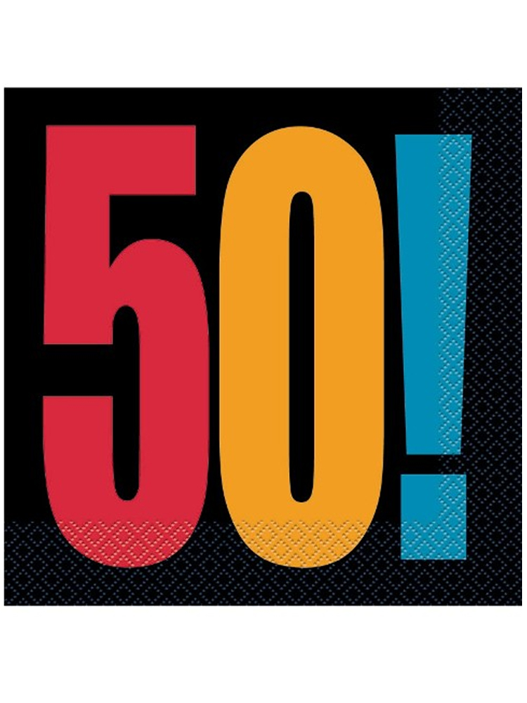 50th Birthday Cheer Napkins
