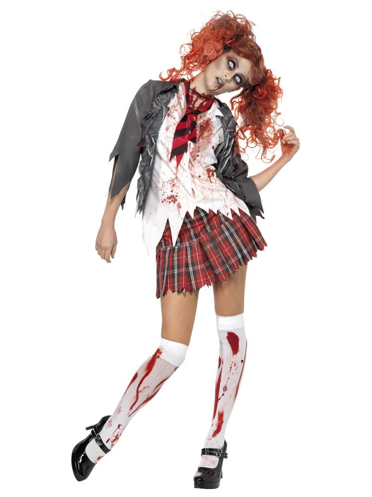High School Horror Zombie Schoolgirl Costume (12345)