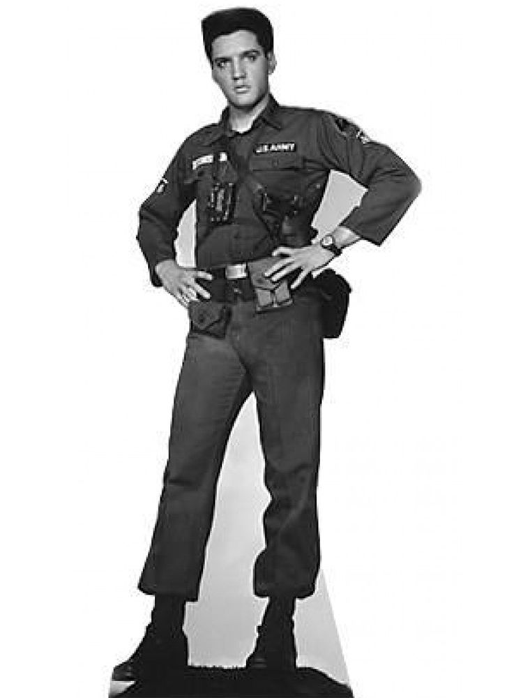 Elvis GI Blues Cardboard Cutout