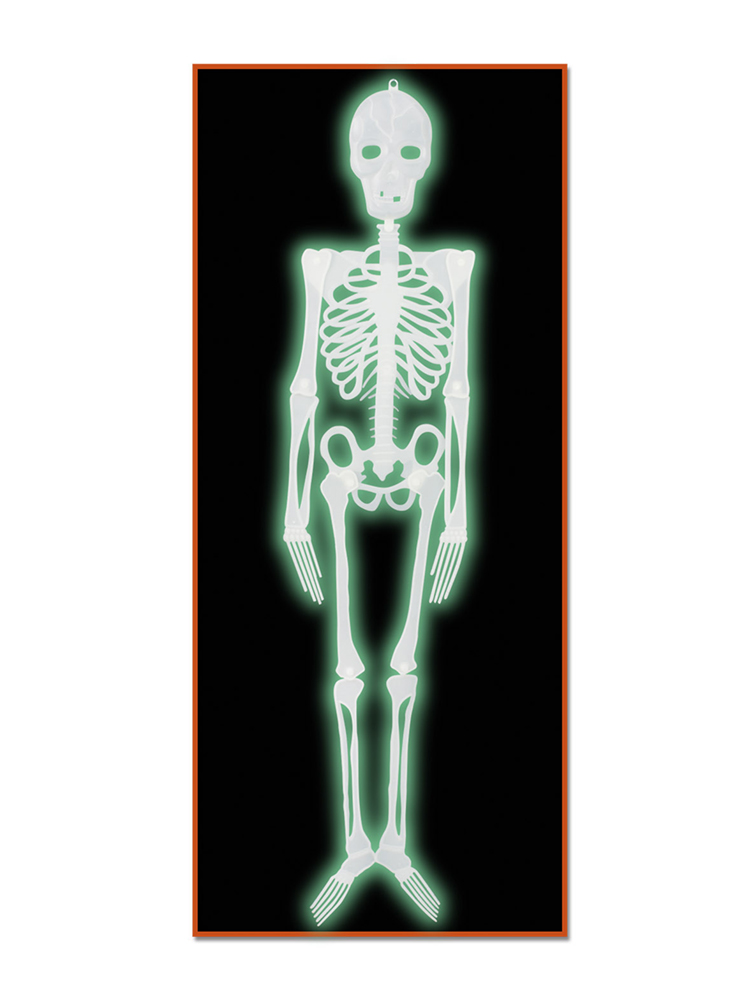 Plastic Nite-Glo Skeleton 4'