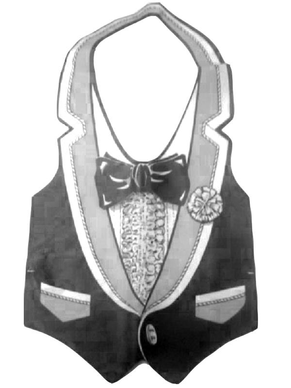 Plastic Tux Vest
