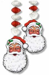 Santa Face Danglers 76cms (2/pkg)