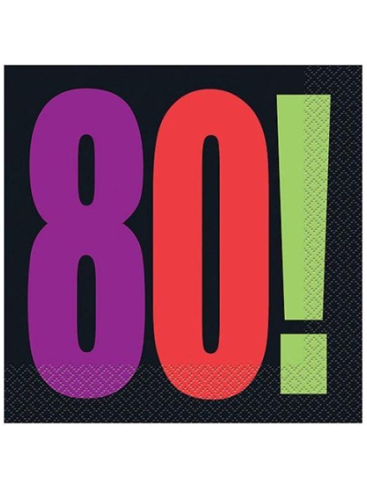 80th Birthday Cheer Napkins