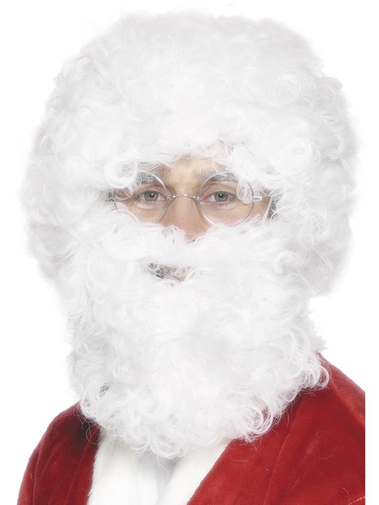 Santa Beard and Wig Set, White