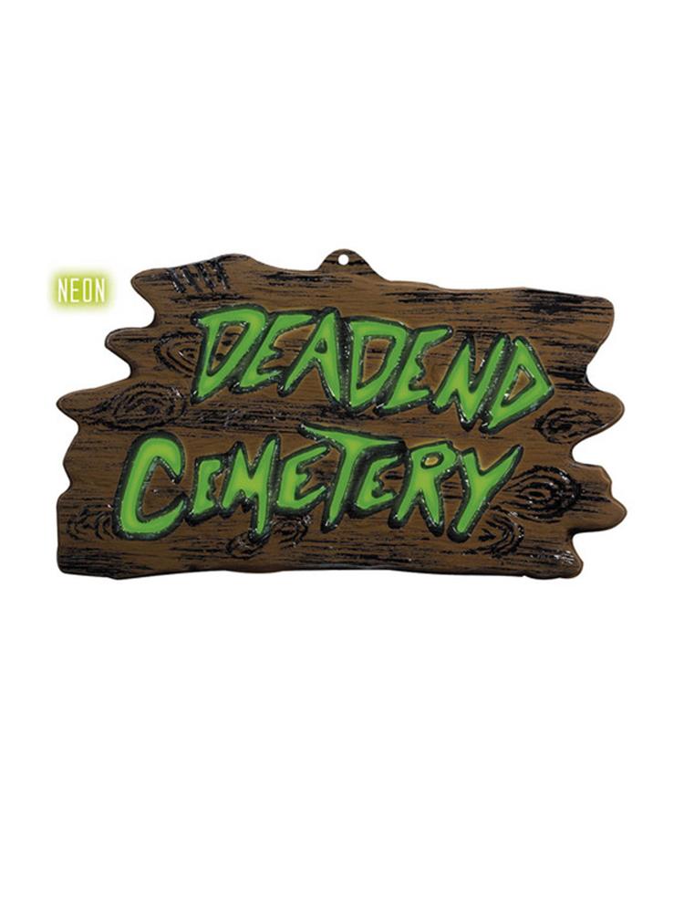 3D Neon Deadend Cemetery Sign