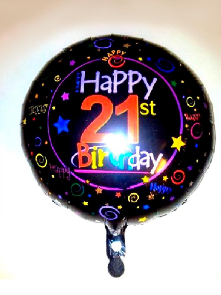 Foil Balloon 21st BIRTHDAY