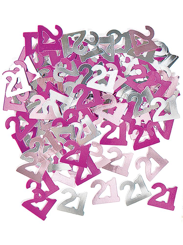 Birthday Glitz Pink - 21st Birthday Confetti