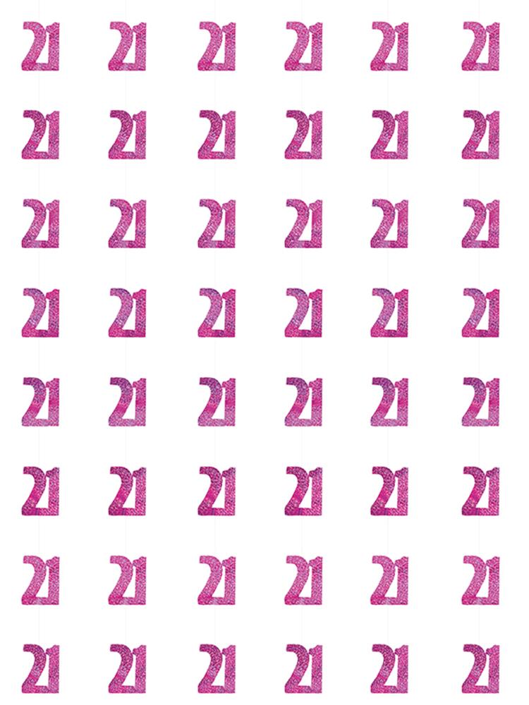 Birthday Glitz Pink - 21st Birthday Prism Hanging Decoration