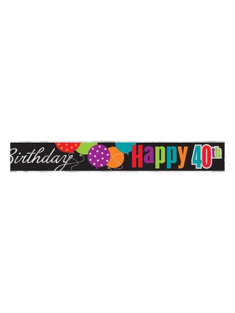 Birthday Cheer 40th Birthday Foil Banner