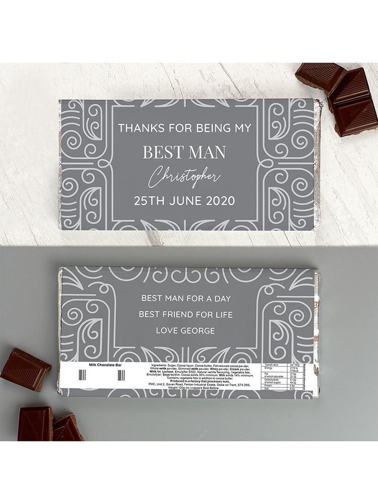 Personalised Congratulations Milk Chocolate Bar