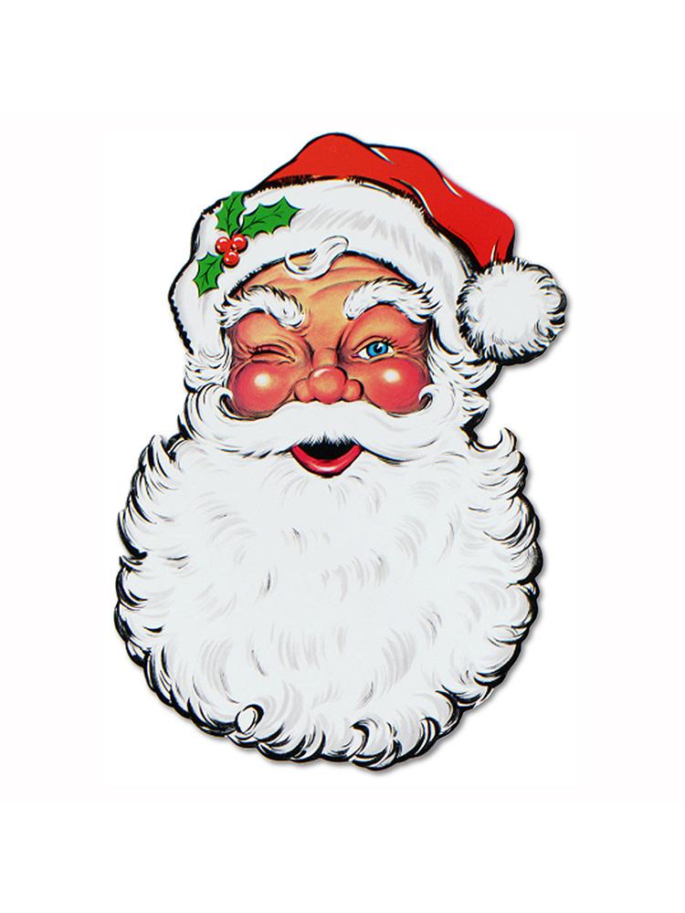 "Display Santa Face Cutout 26"""