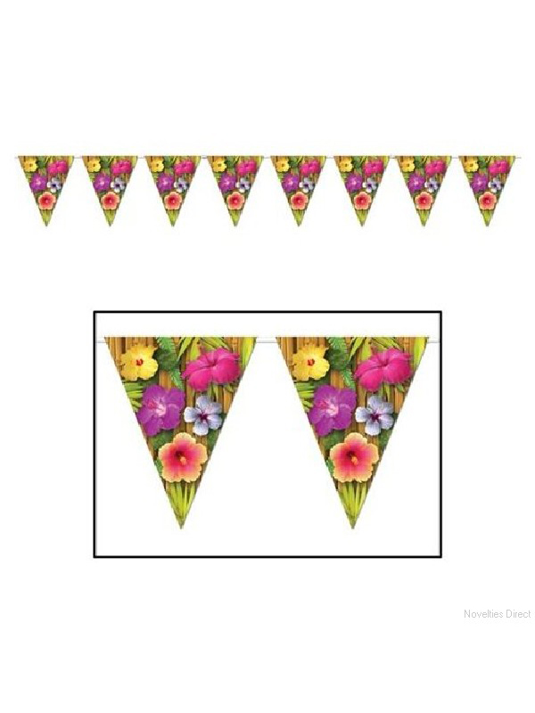 Luau Pennant Banner Bunting
