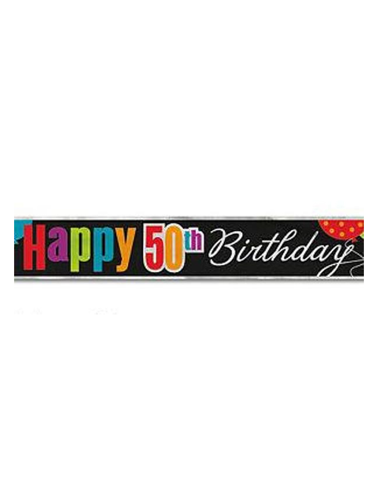 Birthday Cheer 50th Birthday Foil Banner