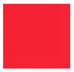 Bright Red Napkins