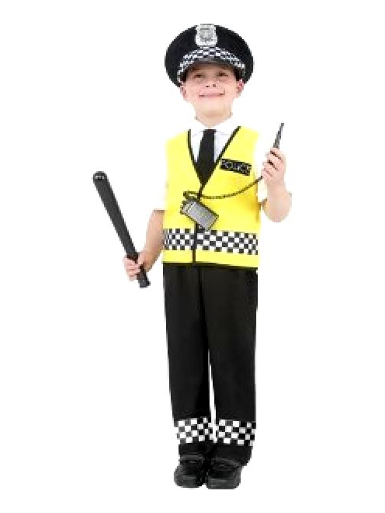 Police Boy Costume, Size's Available - S.M.L