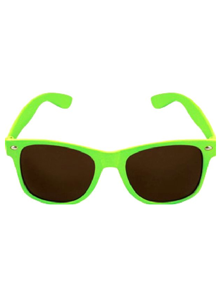 Green Neon Wayfarer Glasses