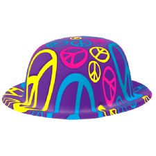 Peace Sign Bowler Hat
