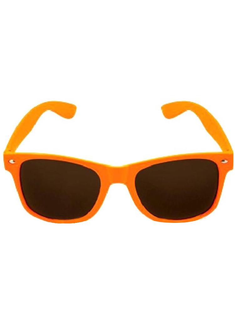 Orange Neon Wayfarer Glasses