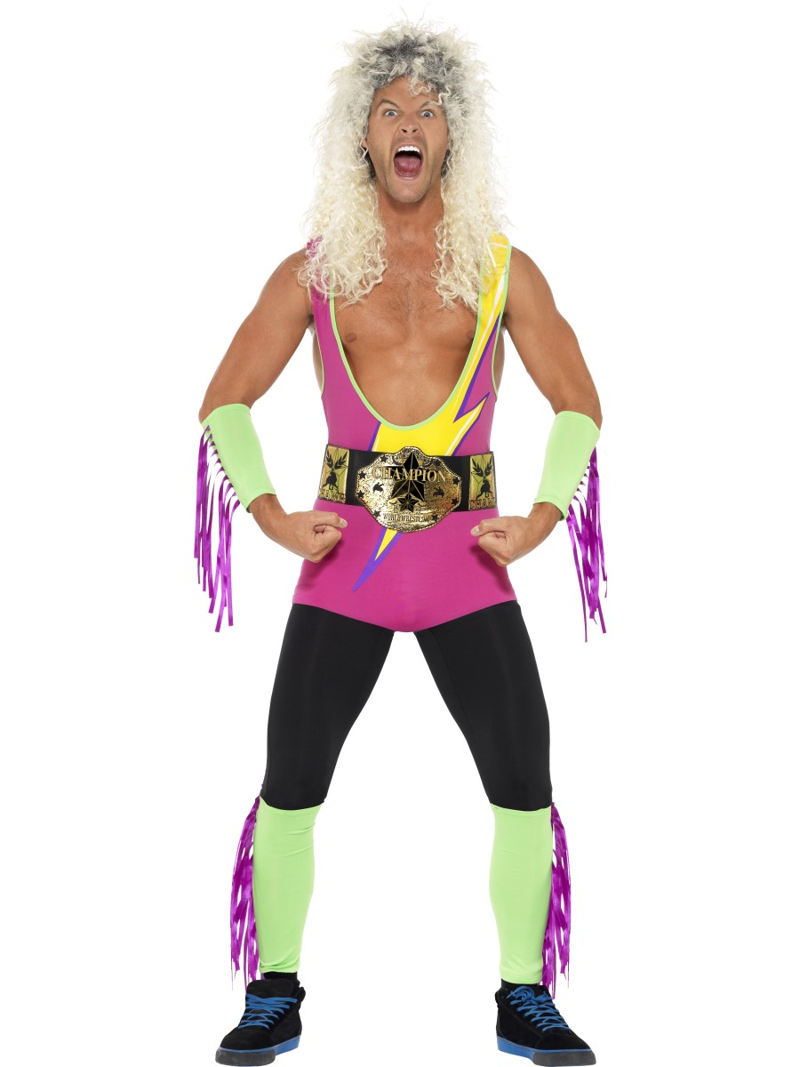 Retro Wrestler Costume, with Bodysuit