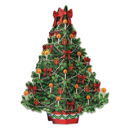 3-D Christmas Tree Centrepiece 11¾""