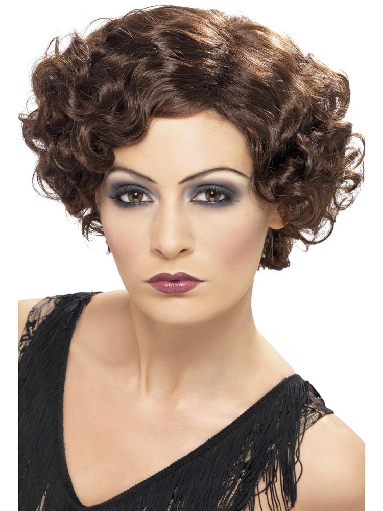 20'S Flirty Flapper Wig,Brown