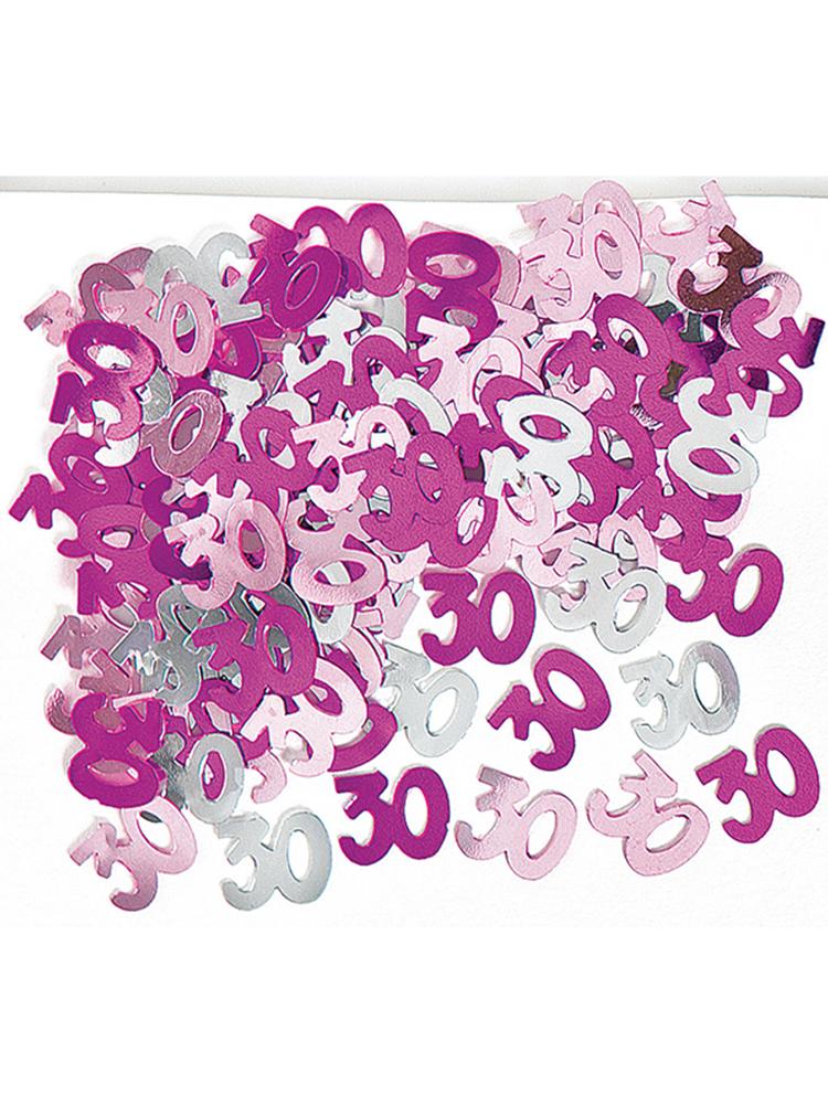 Birthday Glitz Pink - 30th Birthday Confetti
