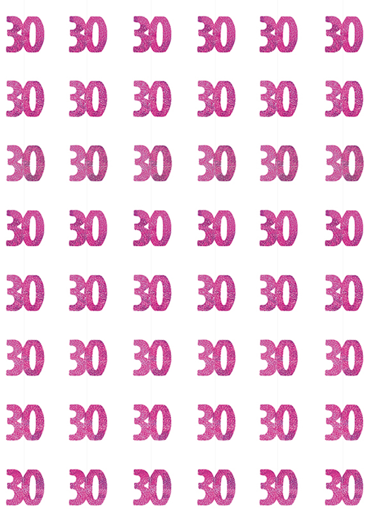 Birthday Glitz Pink - 30th Birthday Prism Hanging Decoration