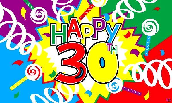 Happy 30th Birthday Flag