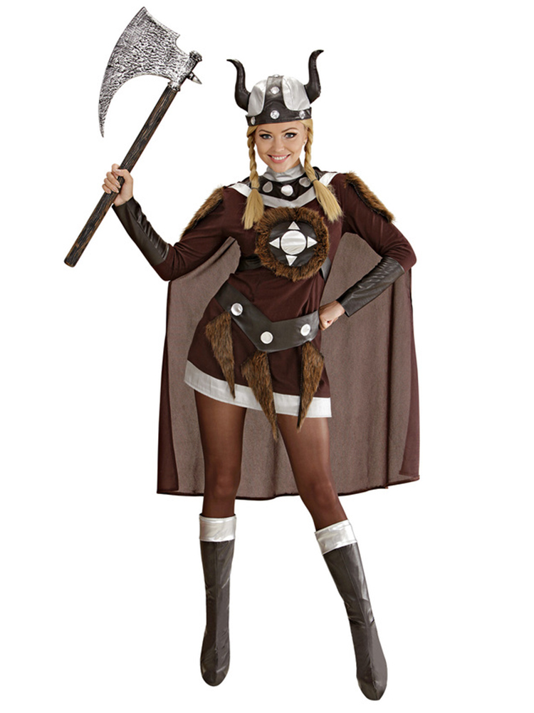 Viking Viktoria Costume (Dress Belt Helmet Bcovers Cape