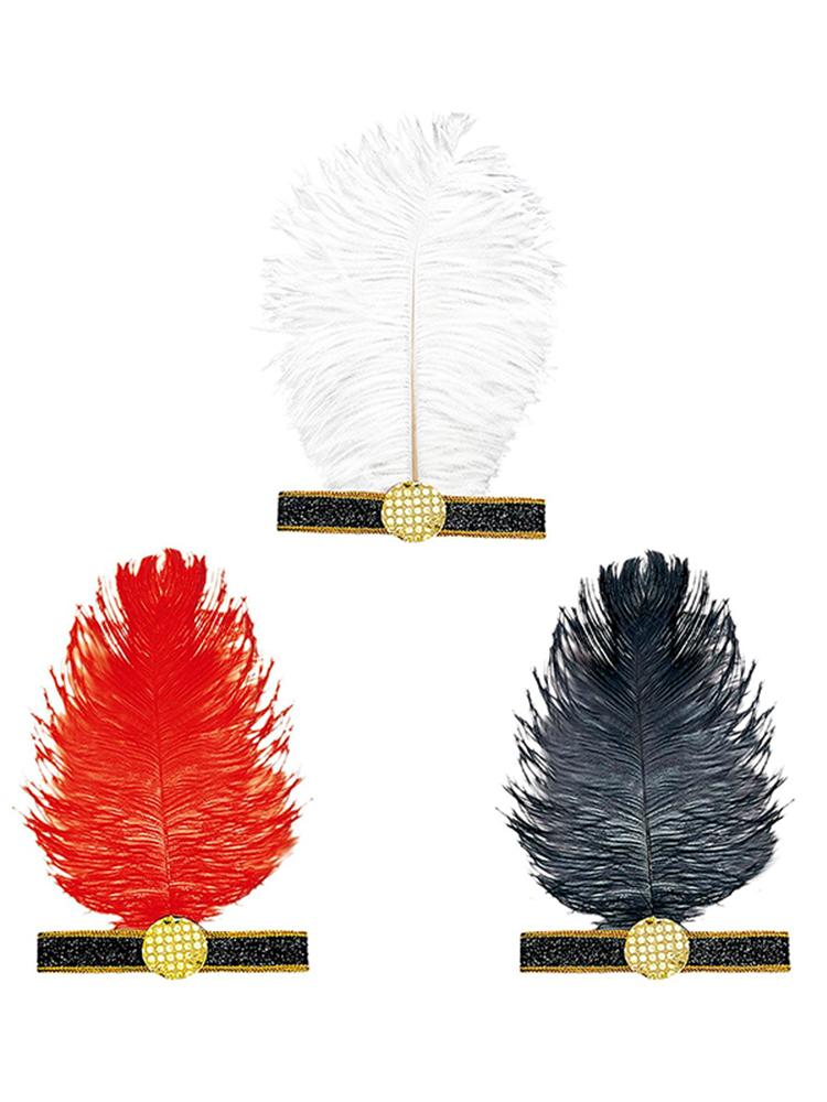 Charleston Headband W/ Feather - 3 Colours (1 per order)