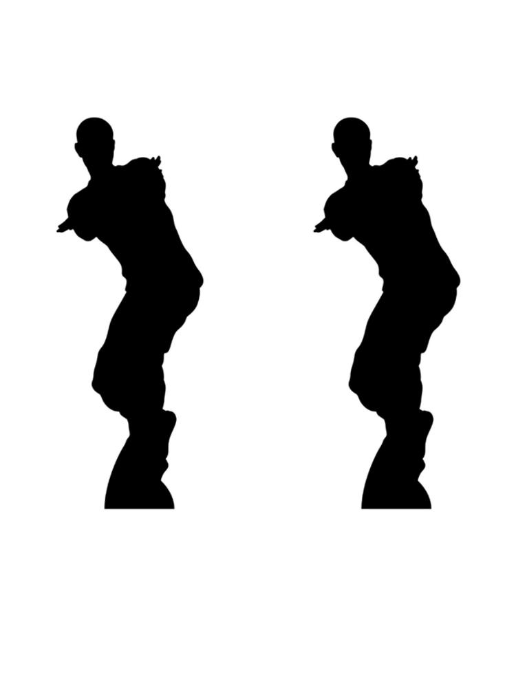 Dancing Gamer Silhouette Large Fun Double Cardboard Cutout
