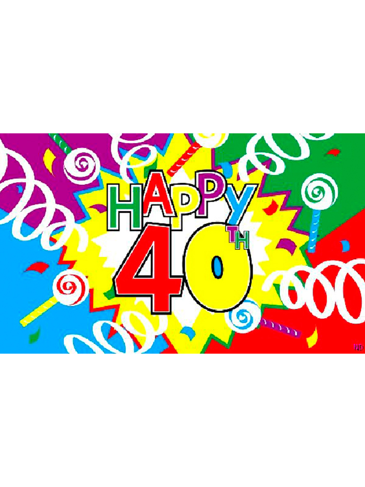 happy 40th birthday flag party supplies from novelties direct