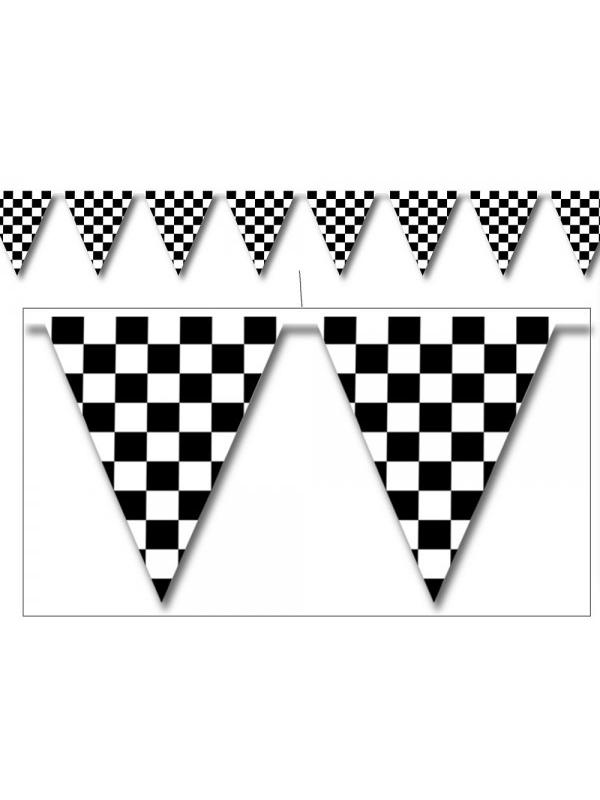 Checkered Outdoor Pennant Bunting