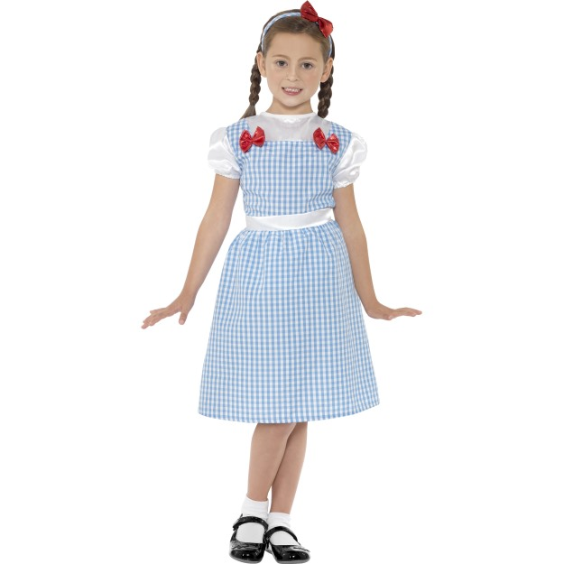 Country Girl Costume, Blue, Dress, Shoecovers and Headband
