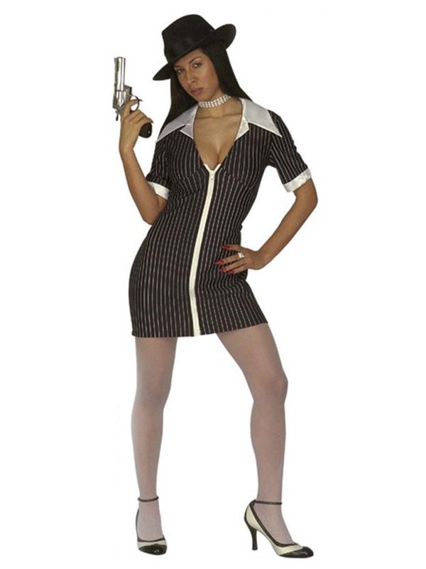 GANGSTER GIRL COSTUME (DRESS)