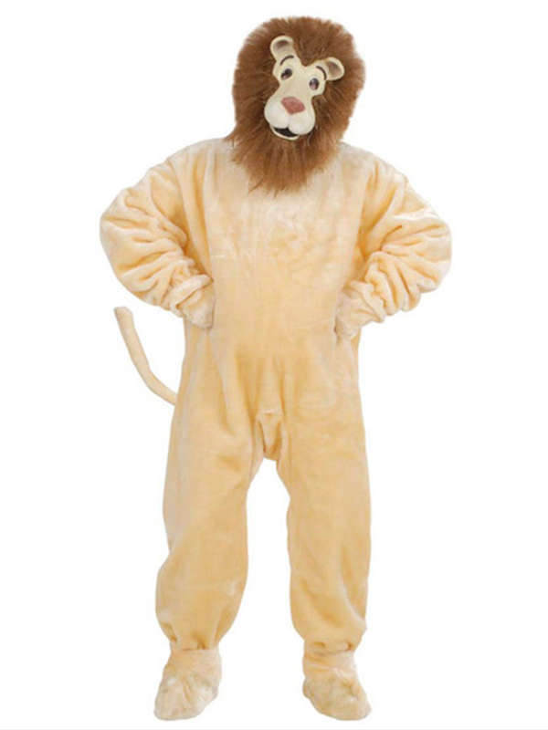 Plush Lion Costume (Costume Gloves Shoe Covers Mask)